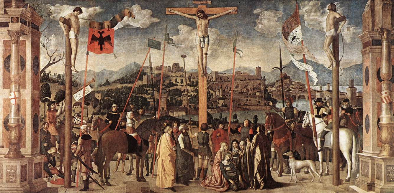 an analysis of the renaissance depiction of the crucifixion Masaccio's holy trinity masaccio, holy trinity, 1424, fresco in the church of santa maria novella in florence is one of the best examples of the early renaissance scientific approach to creating the convincing illusion of space within a painting.